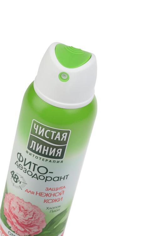 описание Антиперспирант аэрозоль фито-дезодорант чистая линия защита для нежной кожи