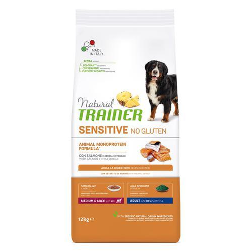 Корм для собак TRAINER Fitness3 для средних и крупных пород рыба, кукуруза сух. 12кг