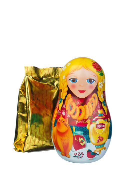 отзыв Набор Lipton «Новогодняя игрушка-матрешка» с листовым чаем