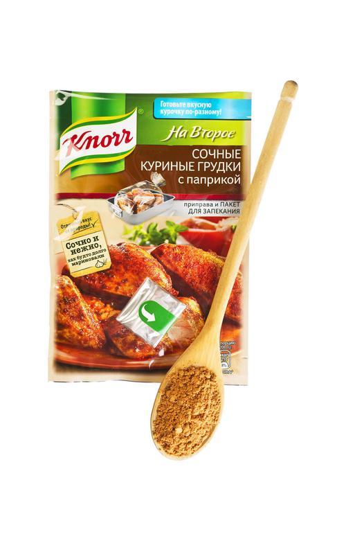 Кнорр на второе coчное куриная грудка с паприкой 27х24г