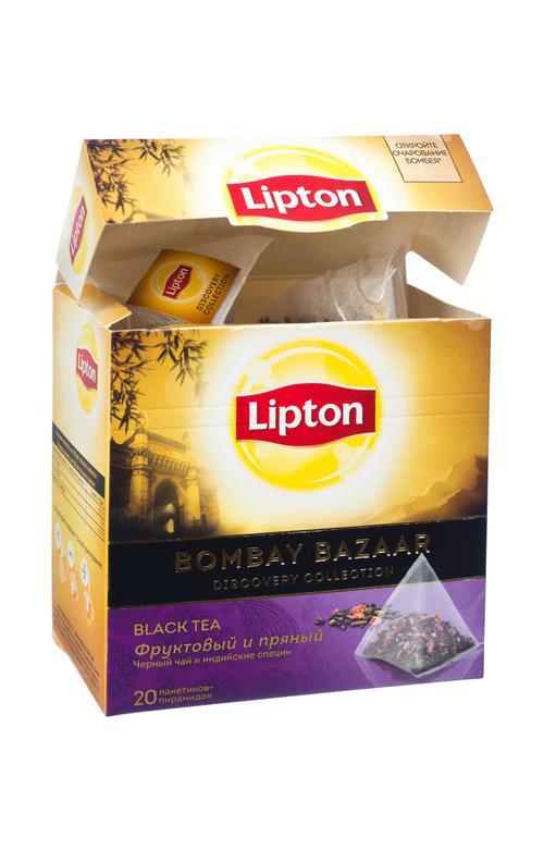 отзыв Чай черный Lipton Bombay Bazaar байховый ароматизированный со специями, 20пак.