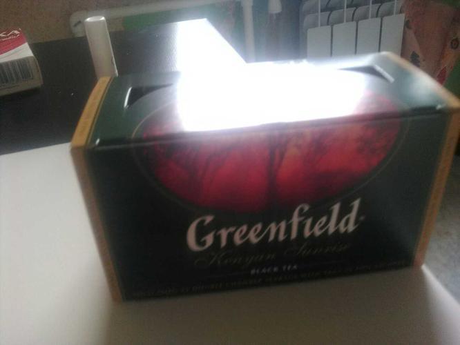 фото5 Чай черный байховый Гринфилд Кениан Санрайз в пакетиках