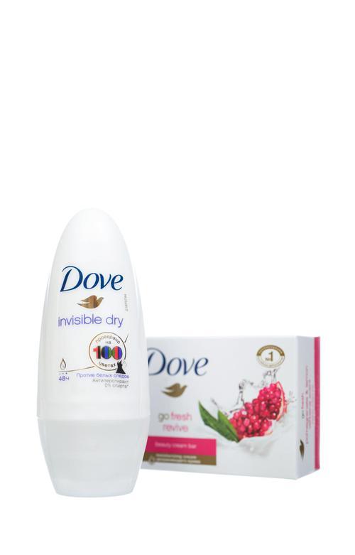 """цена Dove подарочный набор """"С заботой о вас"""", (50 мл+100 гр)"""