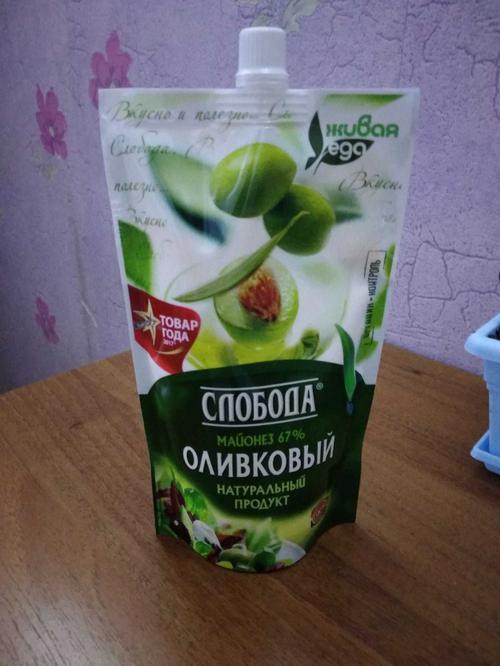 """фото8 Майонез """"Слобода"""" оливковый 67%, 400мл"""