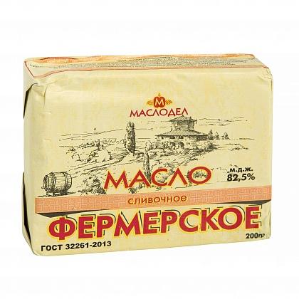 """отзыв Масло сливочное """"Фермерское"""" традиционное сладкосливочное несолёное 82.5%"""