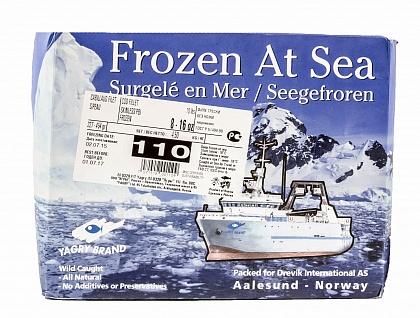 Филе трески. Заморожено в море.
