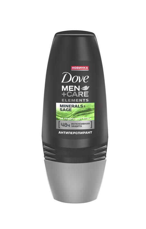 """описание Dove Men+Care антиперспирант ролл """"Свежесть минералов и шалфея"""", 50 мл"""