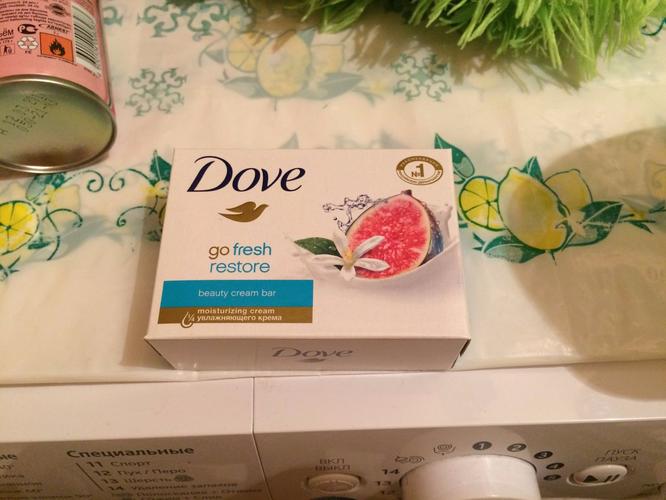 фото Крем-мыло Dove Инжир и лепестки апельсина