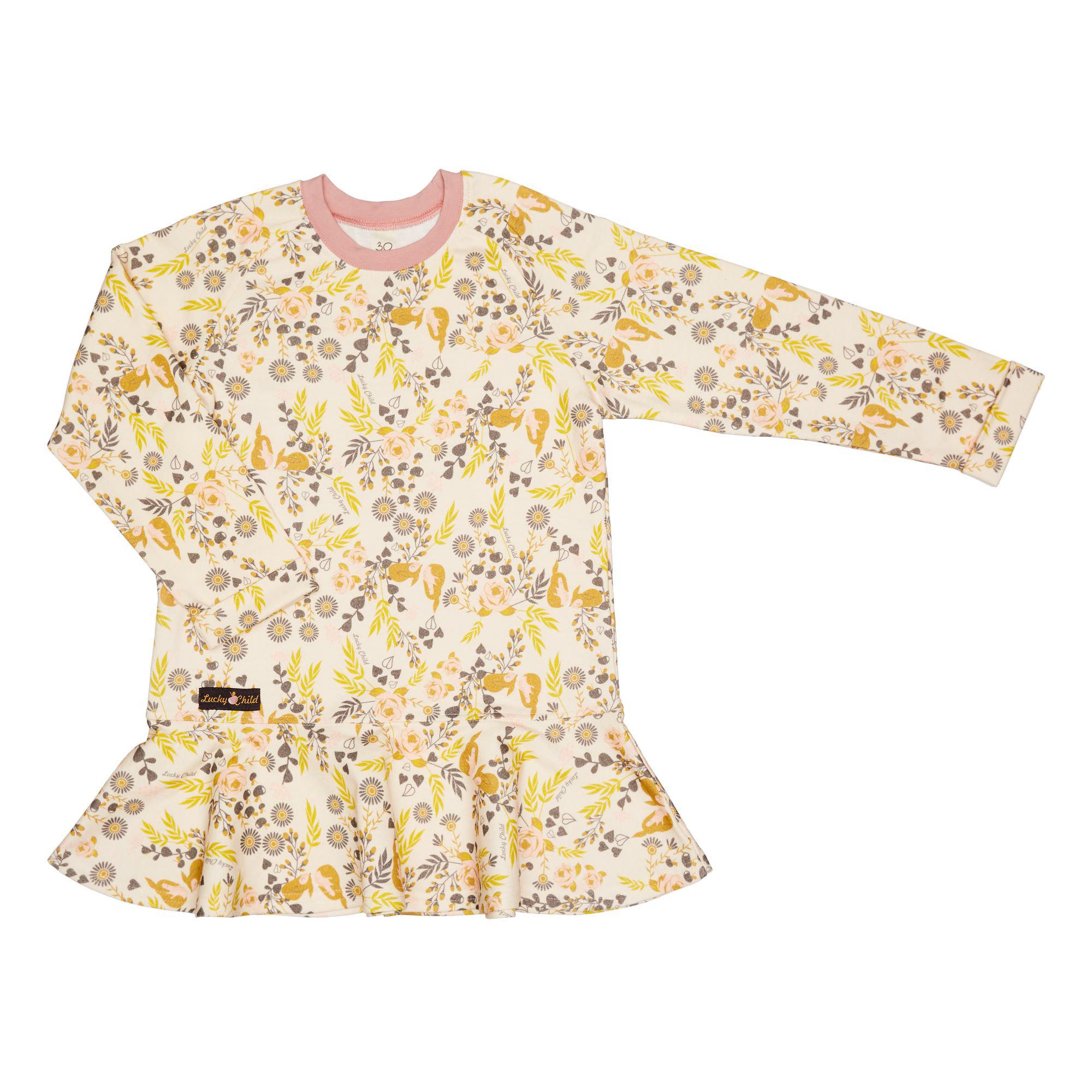 Платье Lucky Child Осенний лес футер цветное 128-134