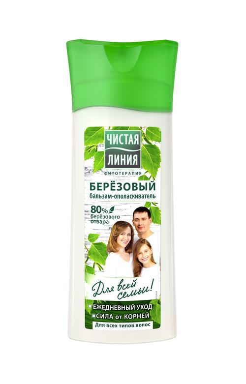 """цена Бальзам-ополаскиватель для волос """"Чистая Линия"""" на отваре, березовый, для всех типов волос, 230 мл."""