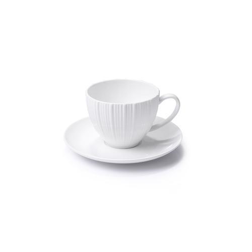Чашка с блюдцем ELEGANCE WHITE 100мл (фарфор)