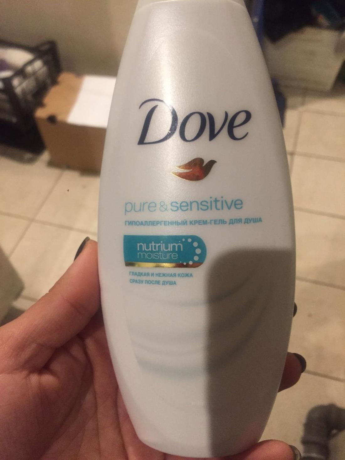 стоимость Dove крем-гель для душа.