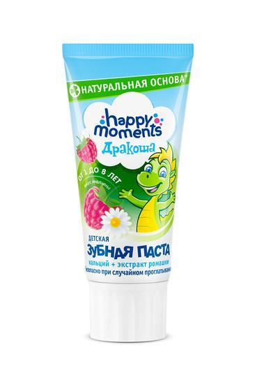 """описание Зубная паста-гель """"Дракоша"""" Малина, 60 мл."""