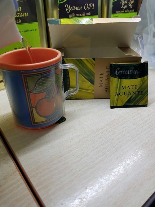 цена Напиток чайный Гринфилд Матэ Агуантэ в пакетиках