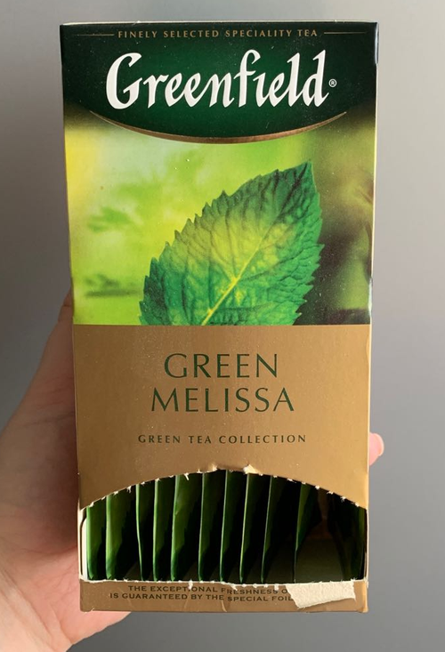 стоимость Чай зеленый байховый Гринфилд Грин Мелисса в пакетиках