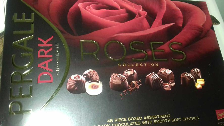 Набор конфет PERGALE ROSES с черным шоколадом