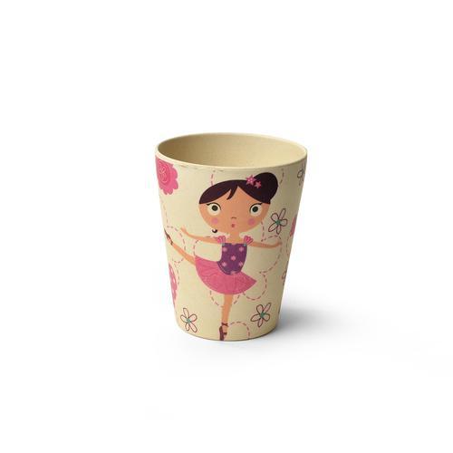 Стакан 300мл Девочка-Балерина (бамбуковое волокно)