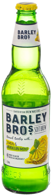 стоимость Напиток безалкогольный Barley Bros сильногазированный пастеризованный Барлей Бро Лимон и Марокканская мята, 0.44л ст/б