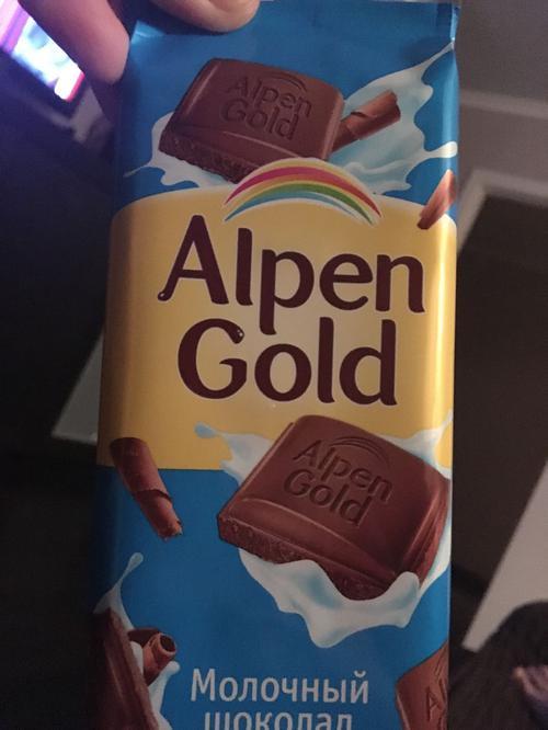 фото24 Шоколад Alpen Gold молочный, 90гр.