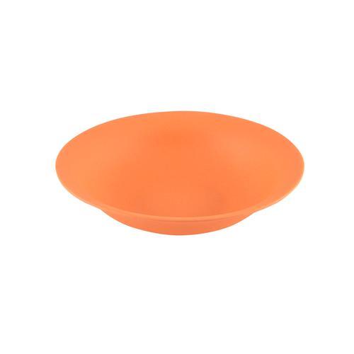 Тарелка 19x5см Глубокая, цвет Оранжевый (бамбуковое волокно)
