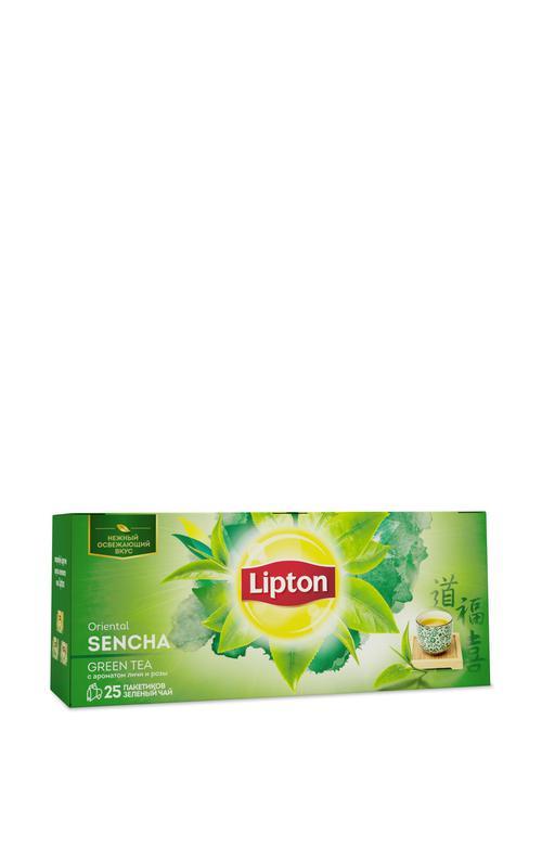 описание Lipton зеленый чай Oriental Sencha с ароматом личи и розы 25 пакетиков