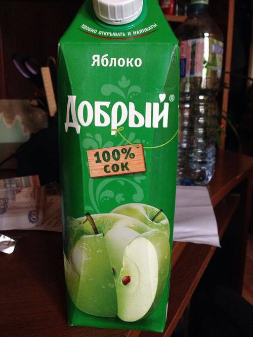 стоимость Сок Добрый яблочный, 1л.