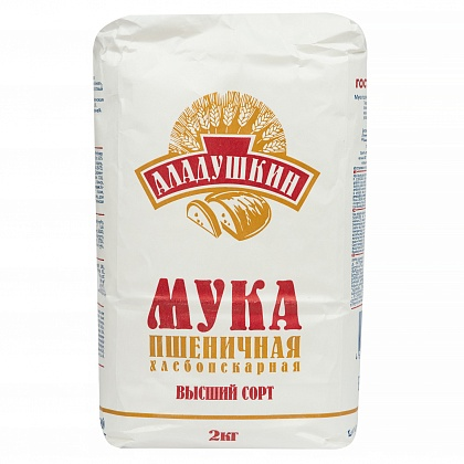 Мука пшеничная хлебопекарная «Аладушкин» сорт Высший
