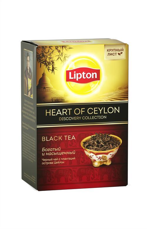 цена Lipton чай черный листовой Heart of Ceylon 85 гр