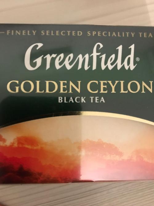 "фото Чай черный ""Гринфилд Голден Цейлон"" (Greenfield Golden Ceylon) байховый, 25пак."