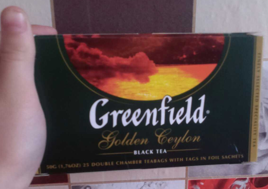 "фото4 Чай черный ""Гринфилд Голден Цейлон"" (Greenfield Golden Ceylon) байховый, 25пак."