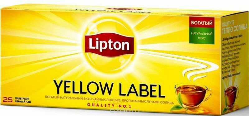 фото8 Чай Lipton Yellow Label черный, 25пак.
