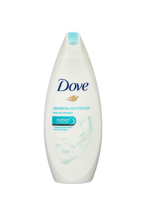описание Dove крем-гель для душа легкость кислорода 12х250мл