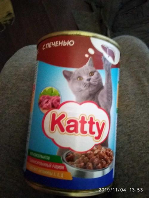 "Корм консервированный для кошек ТМ ""KATTY"", с печенью, ж/б 415 гр."