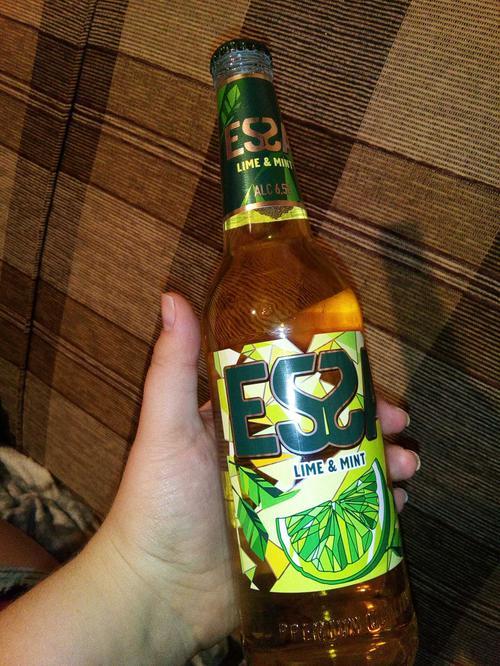 """описание Пивной напиток """"ЭССА"""" со вкусом и ароматом лайма и мяты. Пастеризованный 6,5%, Бутылка стеклянная 0,5 л"""