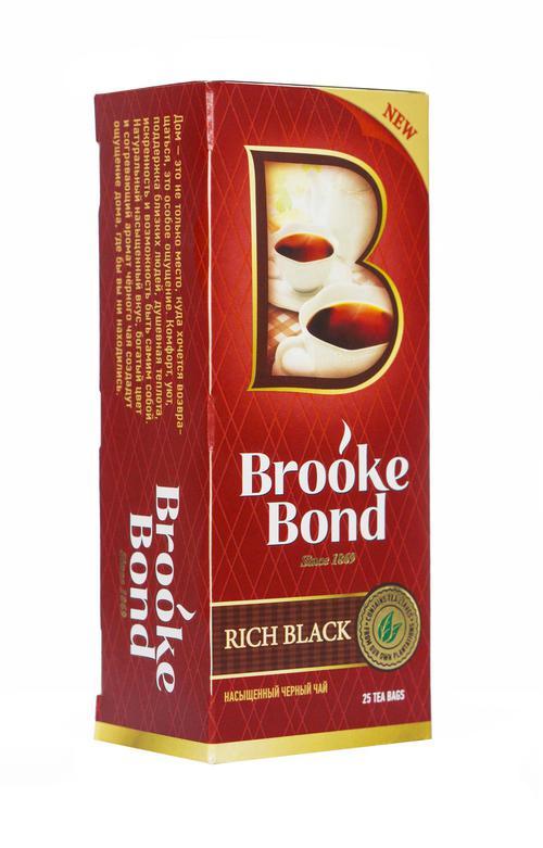 Чай черный brooke bond байховый, 25 пакетиков х 1,8г.