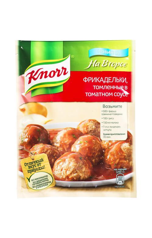 отзыв Кнорр на второе сухая смесь для приготовления фрикаделек в томатном соусе 21х44г