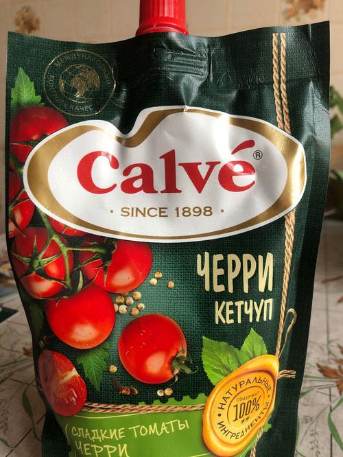 цена Calve кетчуп с помидорами Черри 350 г.