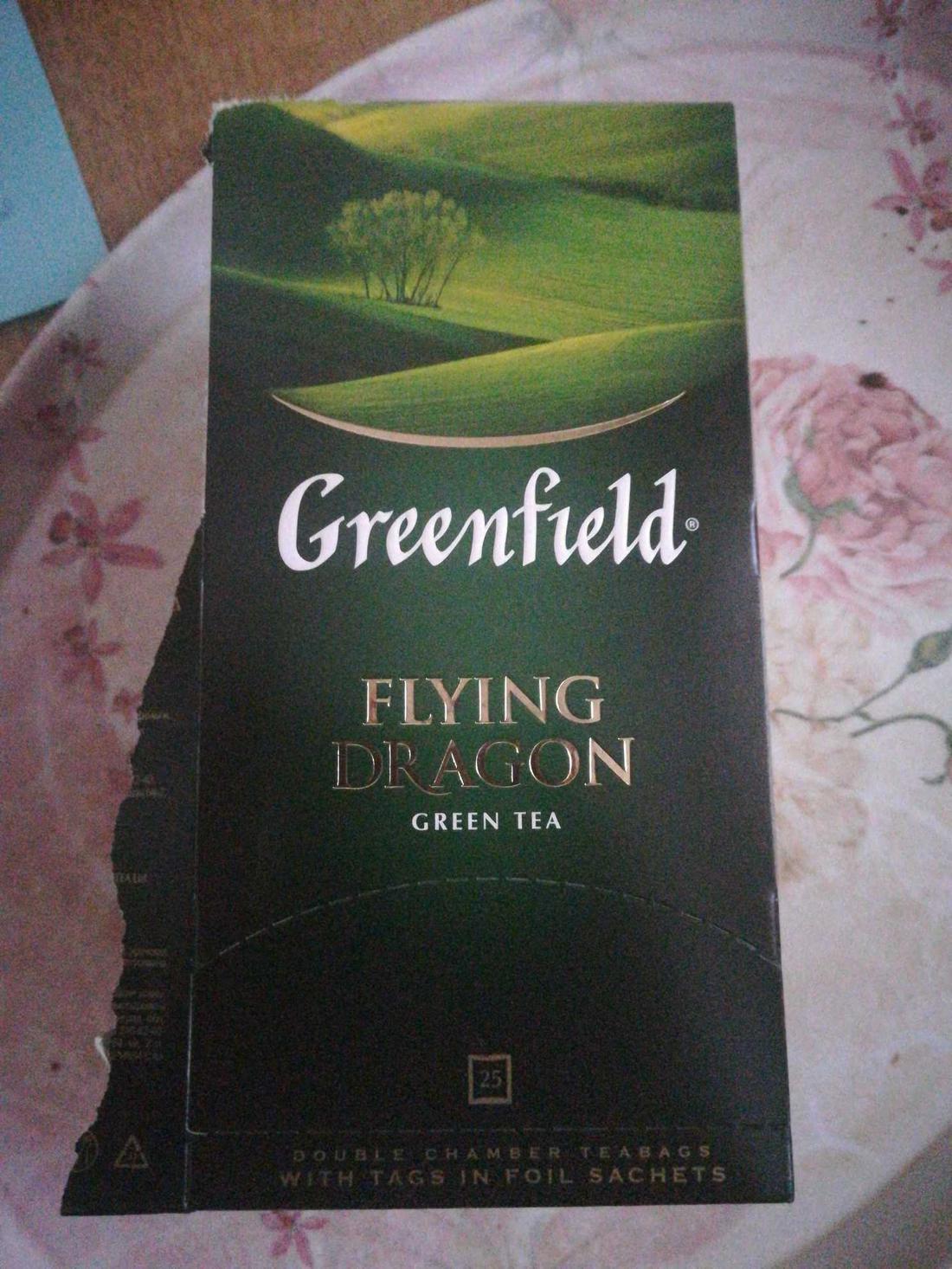 стоимость Чай зеленый байховый Гринфилд Флаинг Драгон в пакетиках