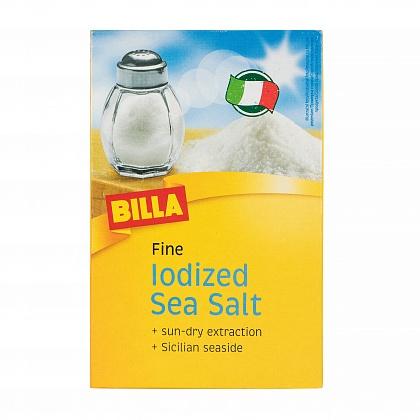 Соль морская йодированная мелкая