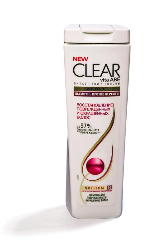 """Шампунь для поврежденных, окрашенных волос и сухой кожи головы, против перхоти """"CLEAR VITA ABE"""", 400 мл."""