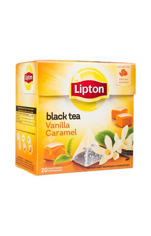 Чай Lipton Vanilla Caramel, пирамидки, 20пак