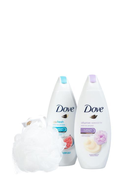 """описание Dove подарочный набор """"Момент наслаждения"""" (250+250 мл)"""