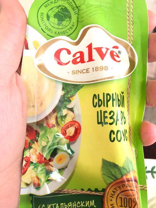 """цена Calve """"Сырный Цезарь"""" соус для салатов , 230 гр."""