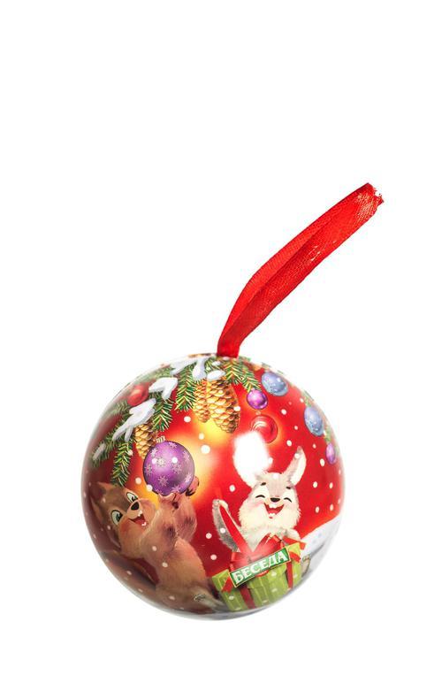 """Набор Беседа """"новогодний шарик"""" с листовым чаем"""