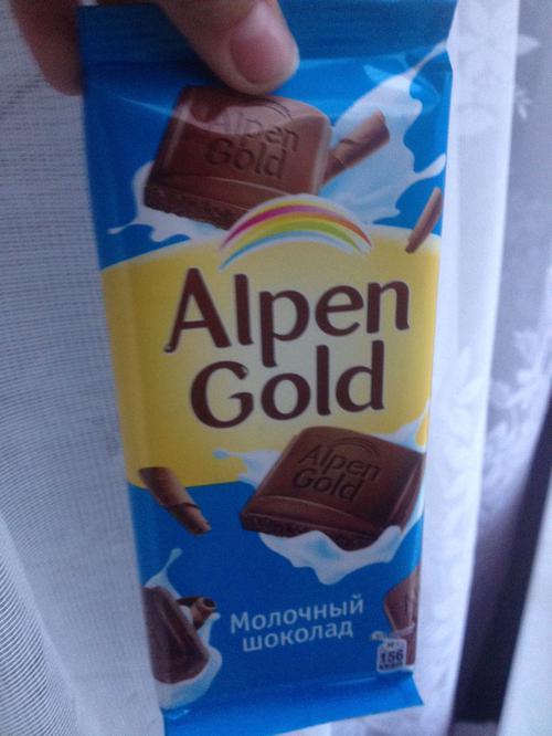 фото11 Шоколад Alpen Gold молочный, 90гр.