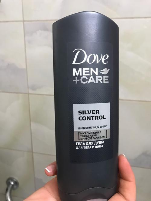 Гель для душа Dove Men + Care Серебряный Заряд