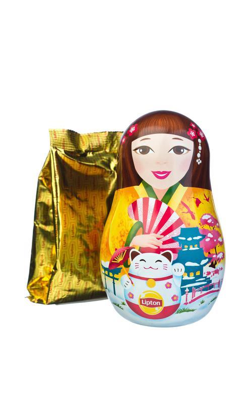 фото3 Набор Lipton «Новогодняя игрушка-матрешка» с листовым чаем