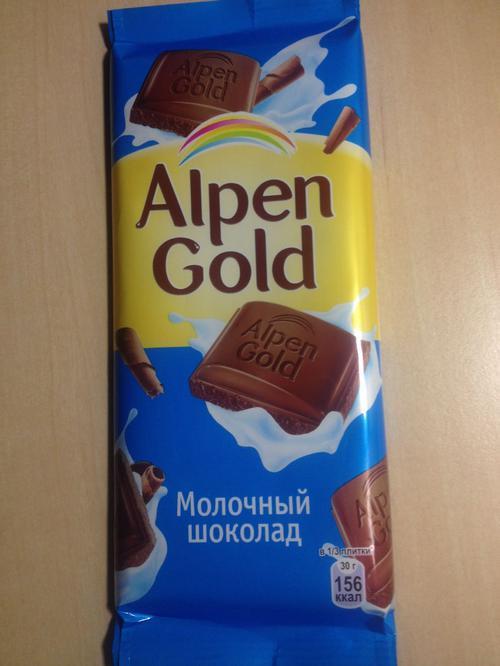 фото10 Шоколад Alpen Gold молочный, 90гр.