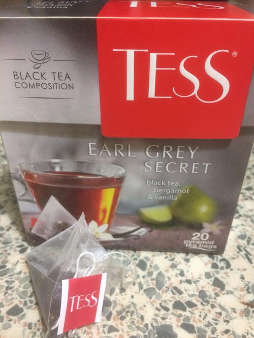 Чай черный байховый с ароматом бергамота и ванили Тесс Эрл Грей Секрет в пакетиках