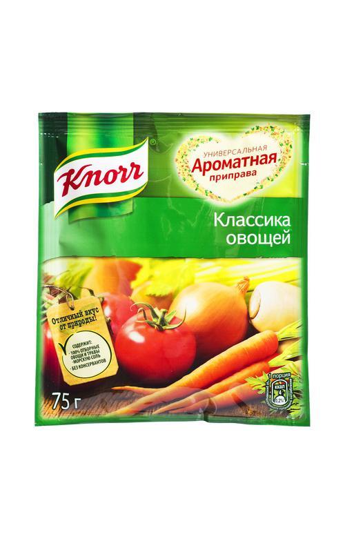 """отзыв Приправа ароматная """"Knorr"""" Классика овощей, 75 г."""